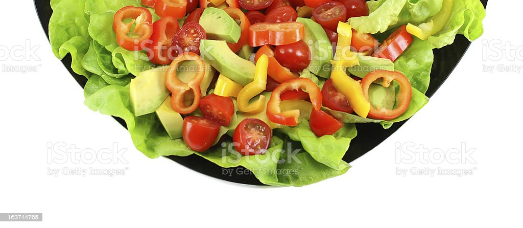 Salad Plate royalty-free stock photo