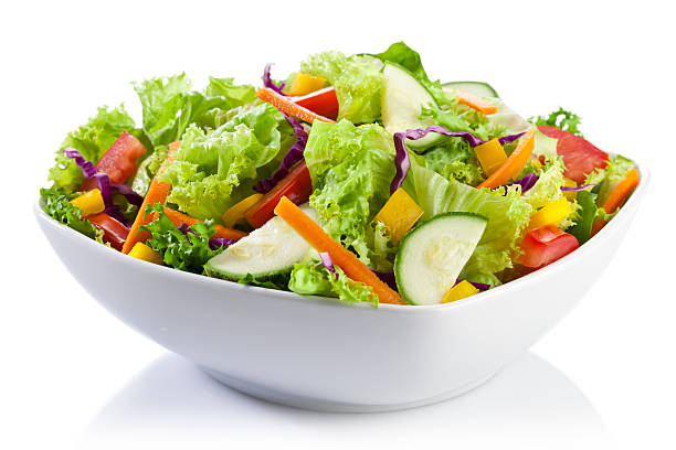 Salad Plate stock photo