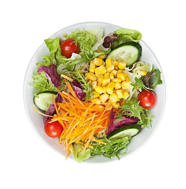 assiette à salade - saladier photos et images de collection