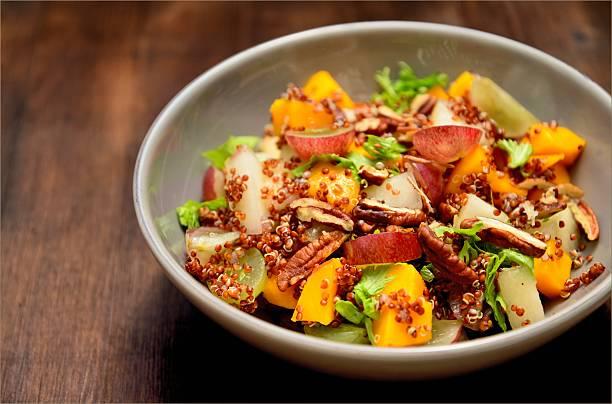 Salad Quinoa with Fruits stock photo