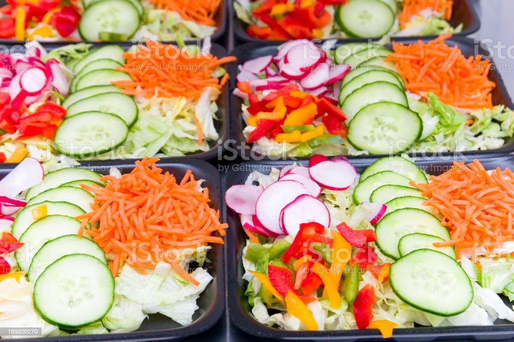 Salad Ready To Go stock photo