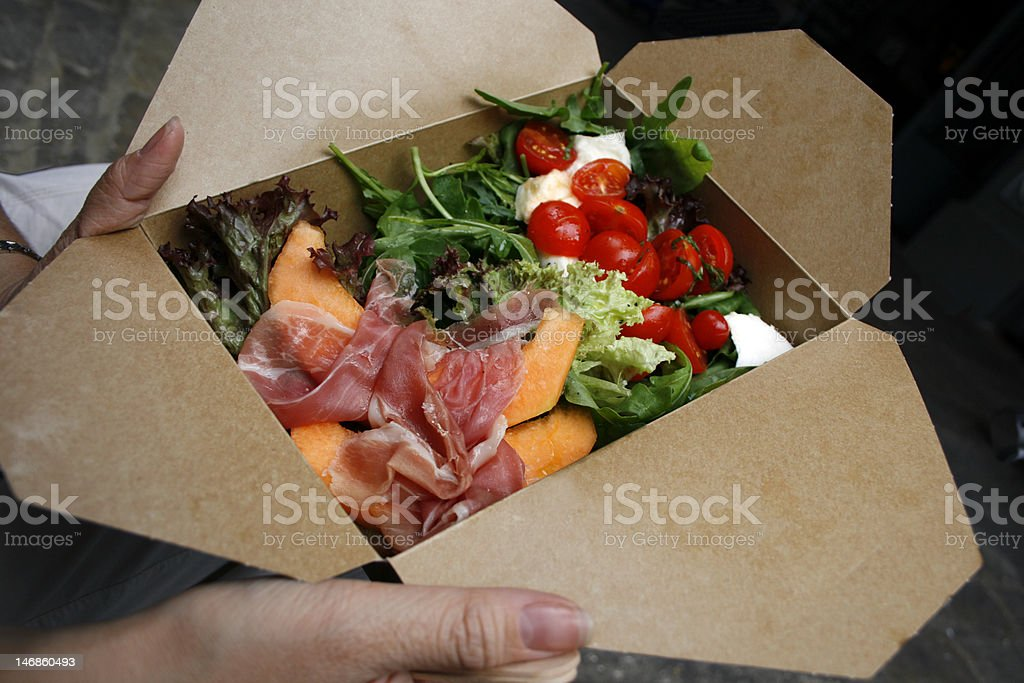Salad Take-Away royalty-free stock photo