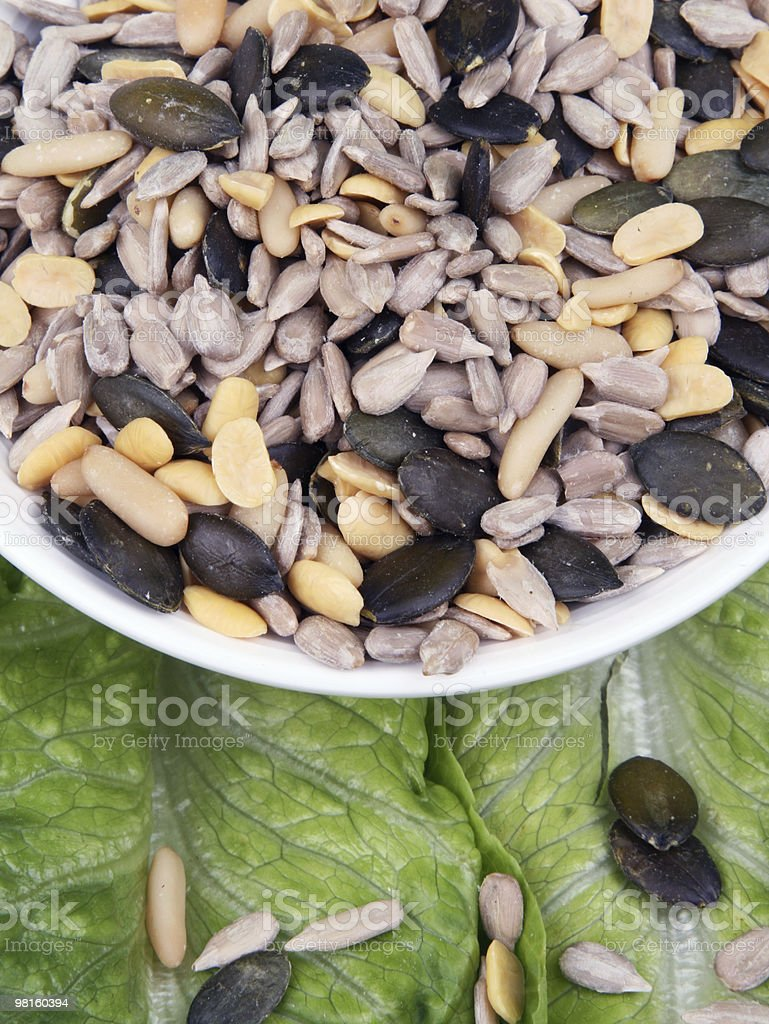 Salad topping royalty-free stock photo