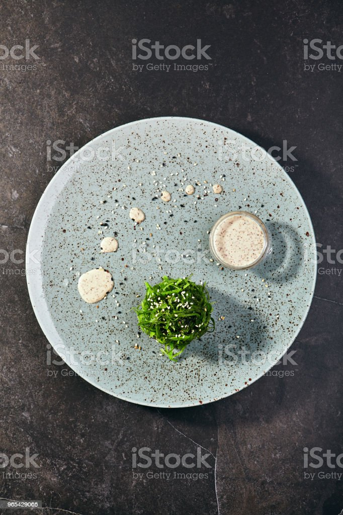 Salad with algae chuka royalty-free stock photo