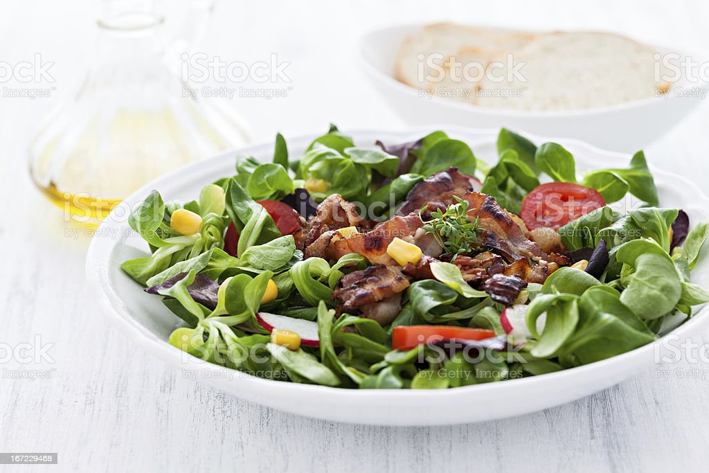 salad with bacon royalty-free stock photo