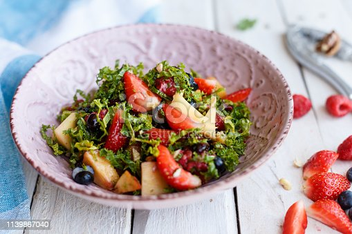 Salad with cabbage and berries