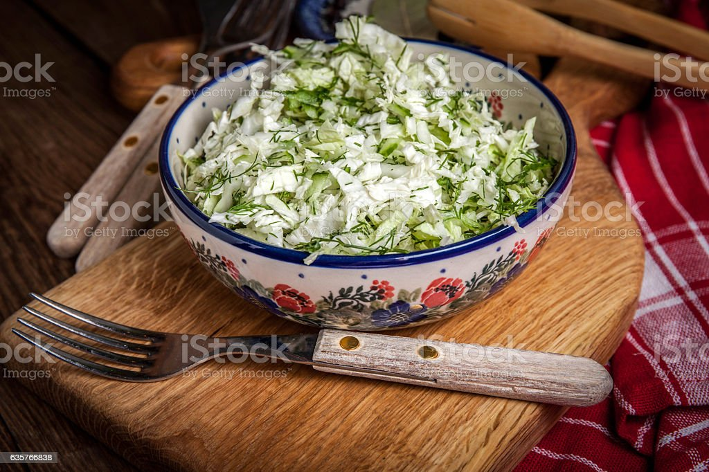 Salad with cabbage and dill. – Foto