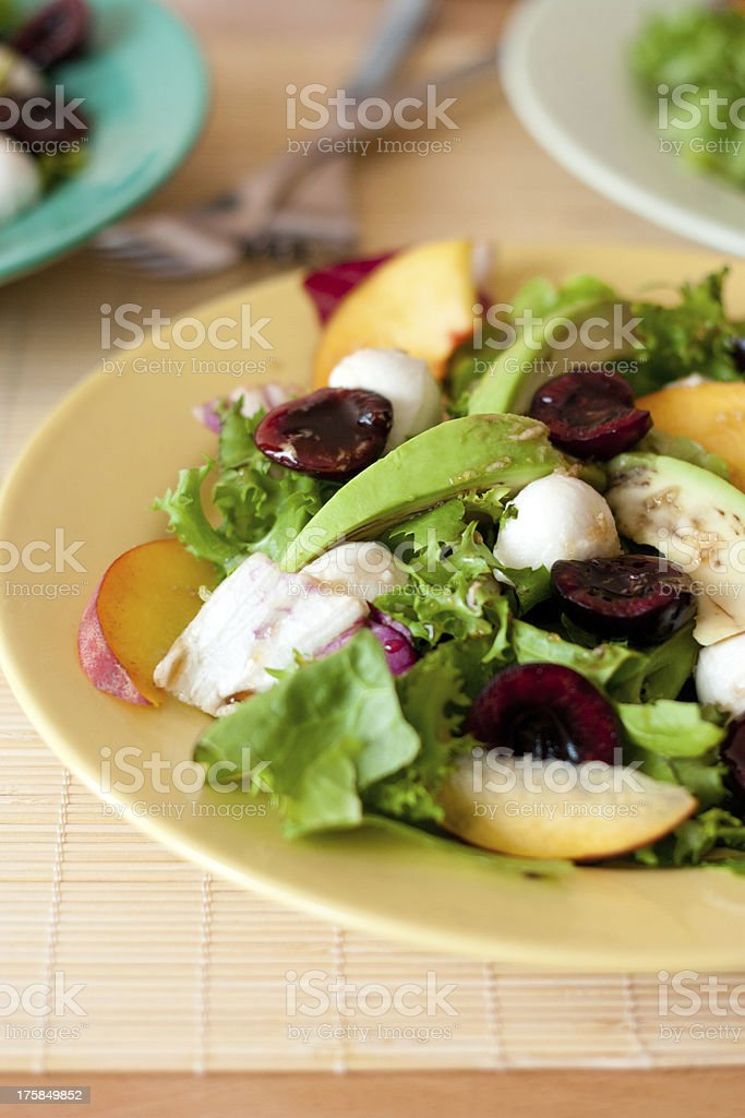 Salad with cherry royalty-free stock photo