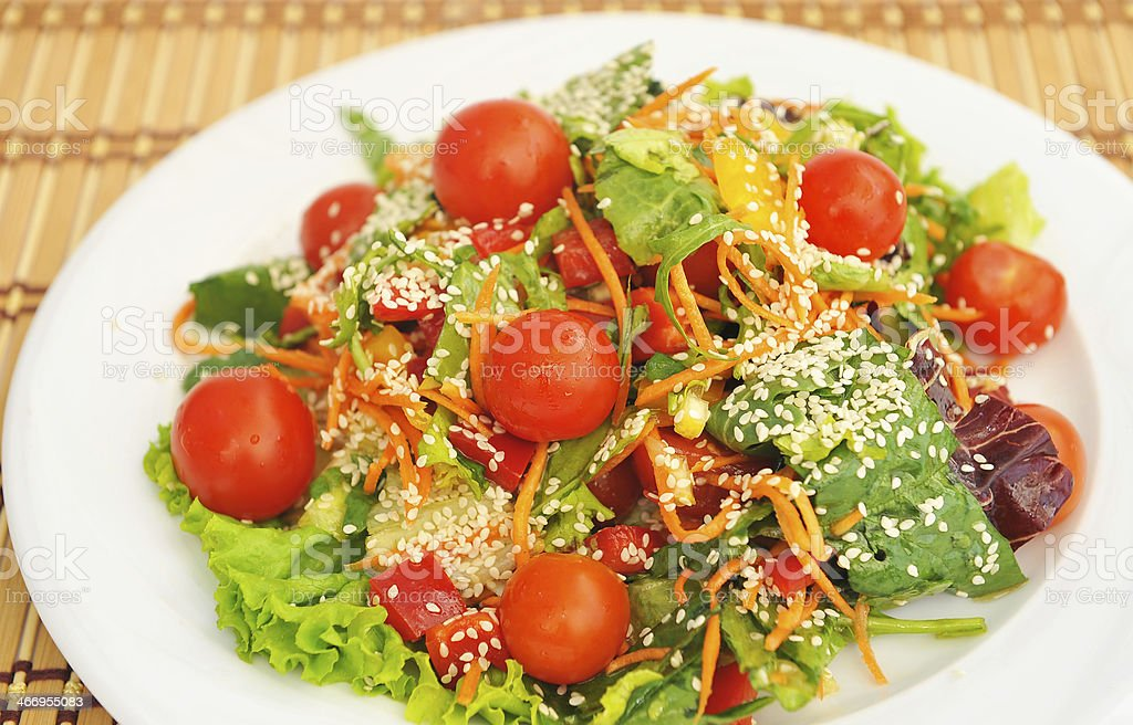 Salad with cherry tomatoes . royalty-free stock photo