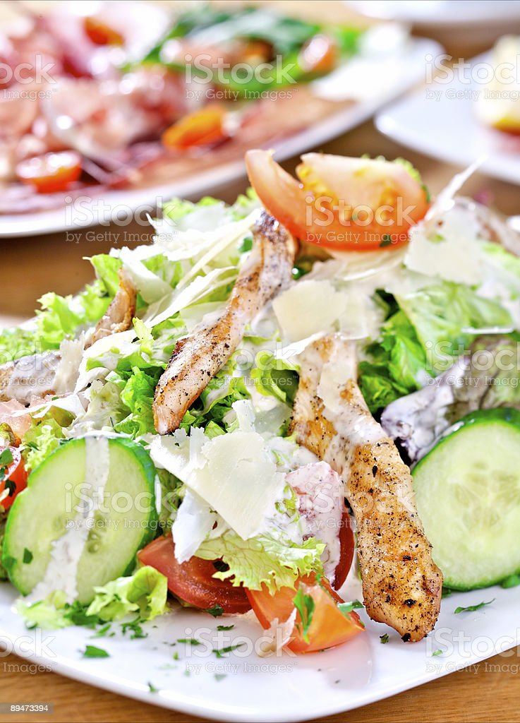 Salad with chicken royalty-free stock photo