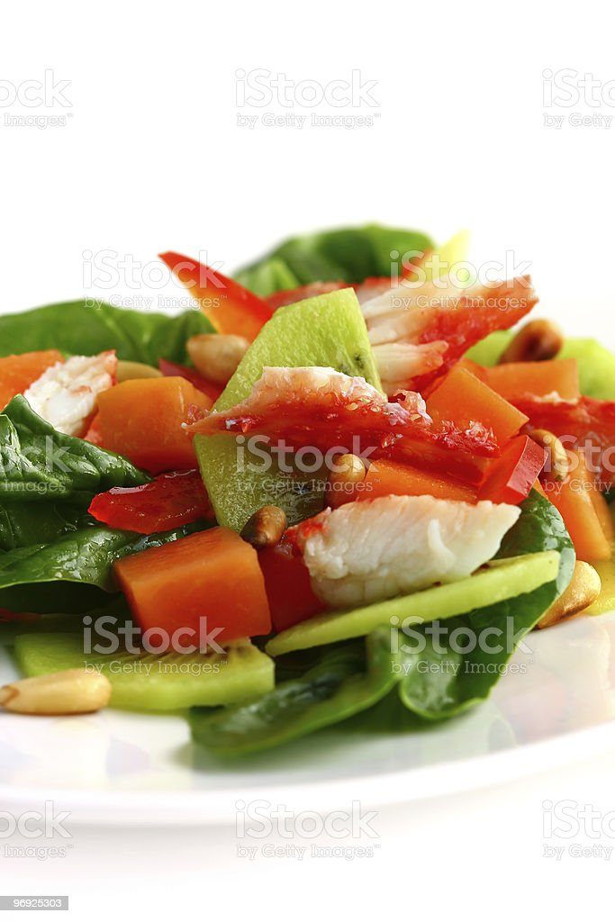 salad with  crab meat royalty-free stock photo