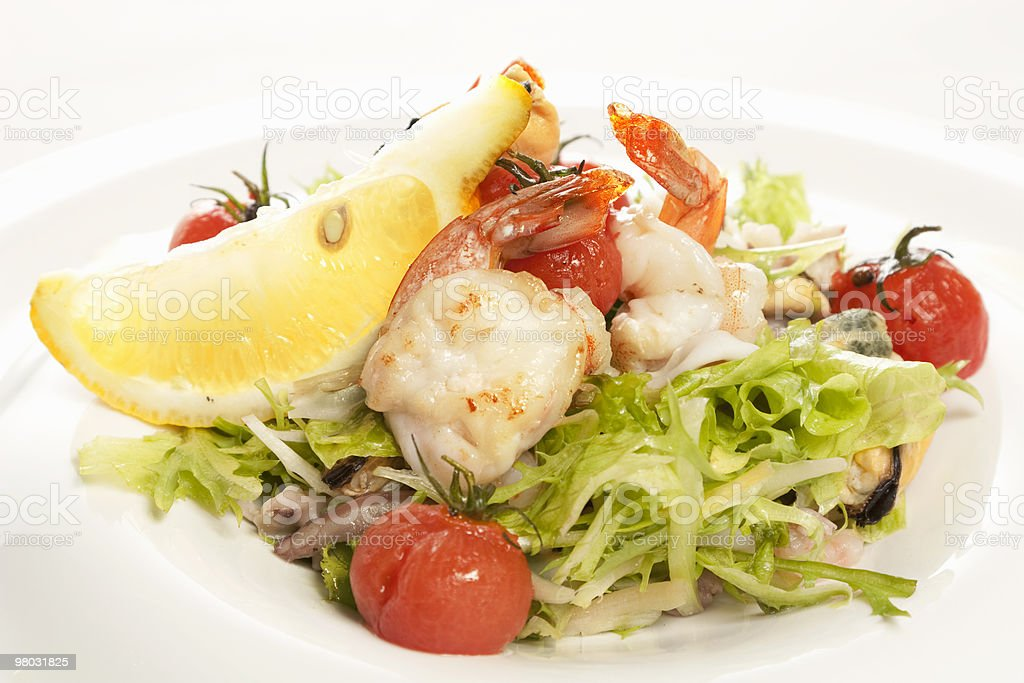 Salad with cuttlefishes royalty-free stock photo