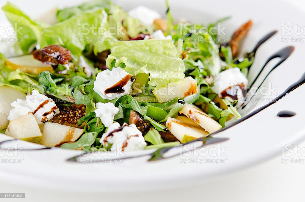 salad with figs and goat cheese royalty-free stock photo