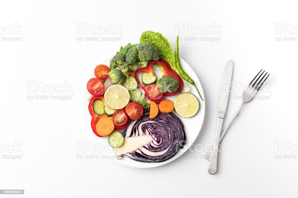 Salat mit Messer und Gabel – Foto