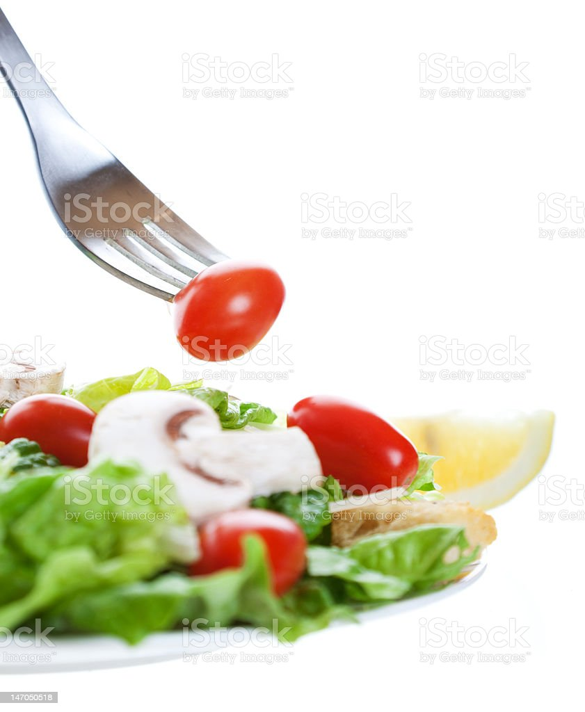 Salad With Fork royalty-free stock photo