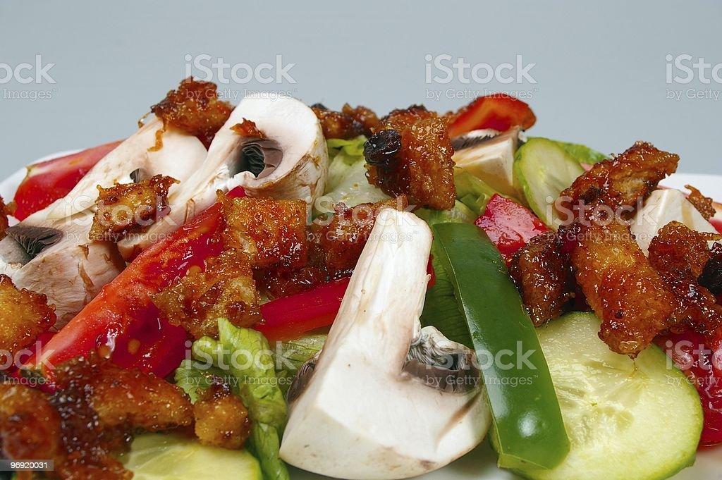 salad with mango chutney croutons royalty-free stock photo