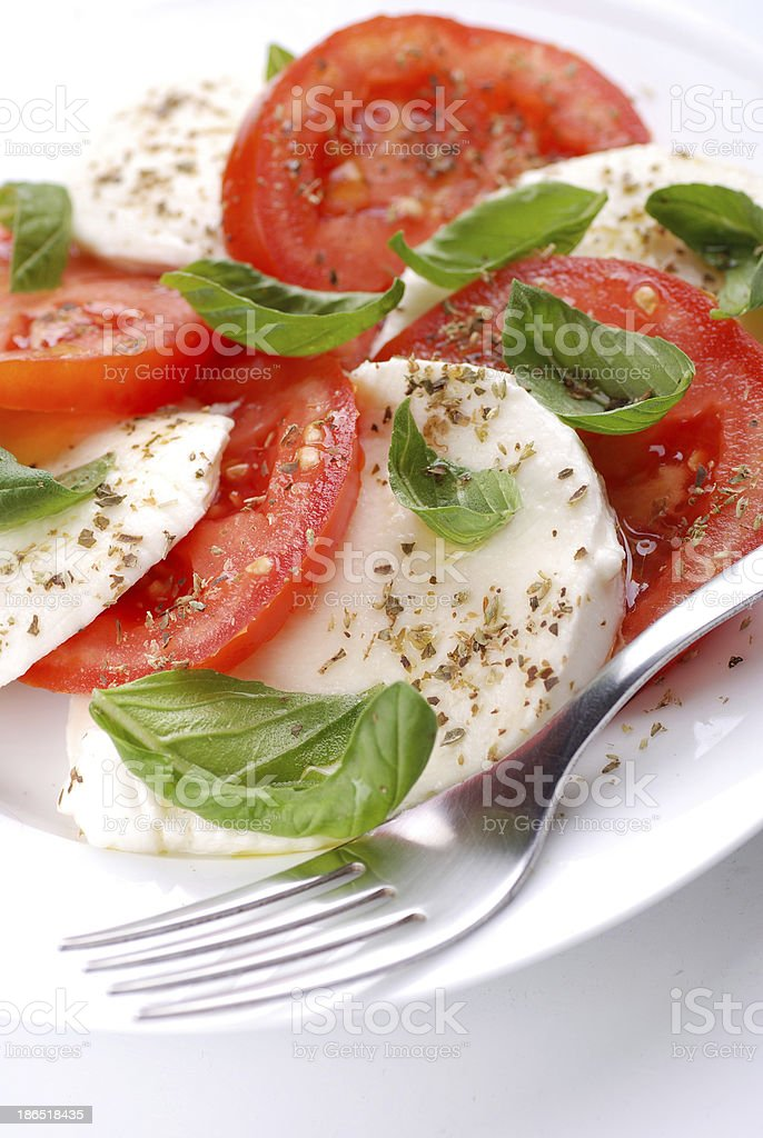salad with mozzarella  and tomato royalty-free stock photo