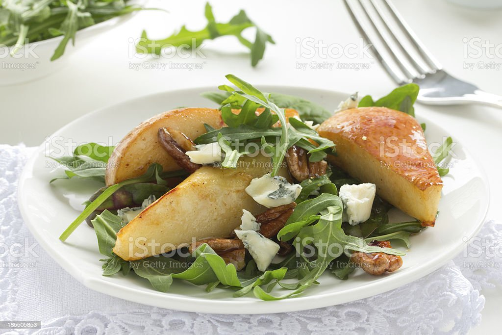 Salad with pear and Gorgonzola. royalty-free stock photo