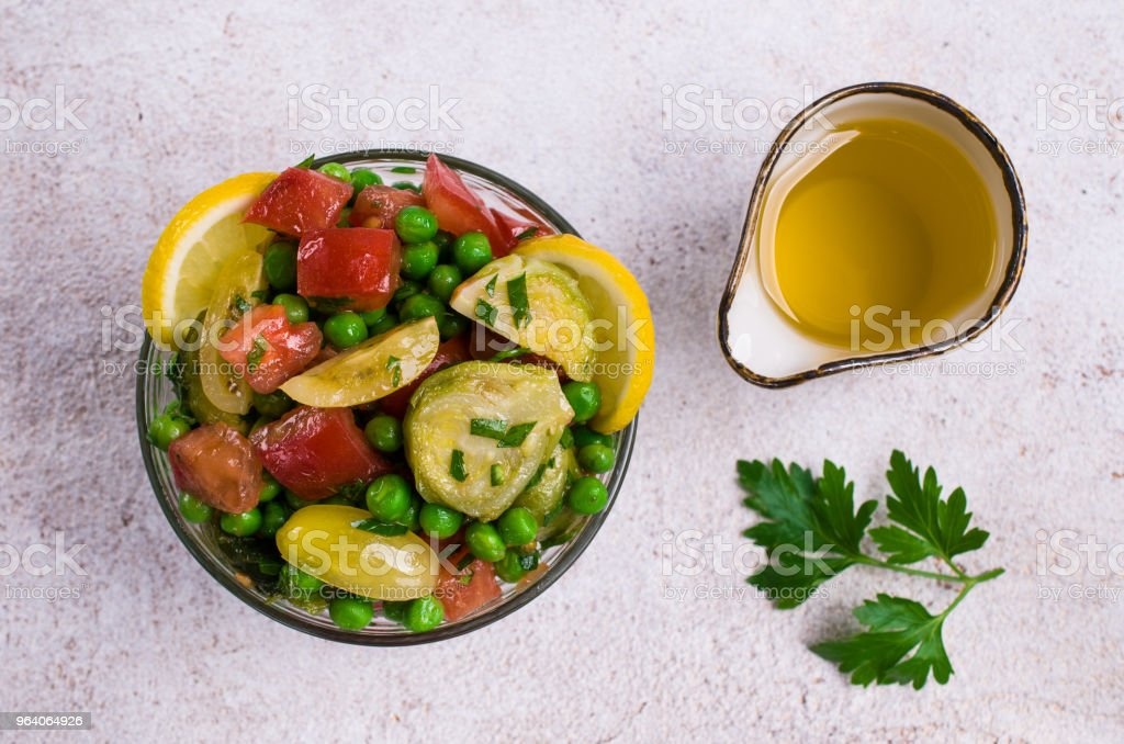 Salad with raw slices of vegetables - Royalty-free Appetizer Stock Photo