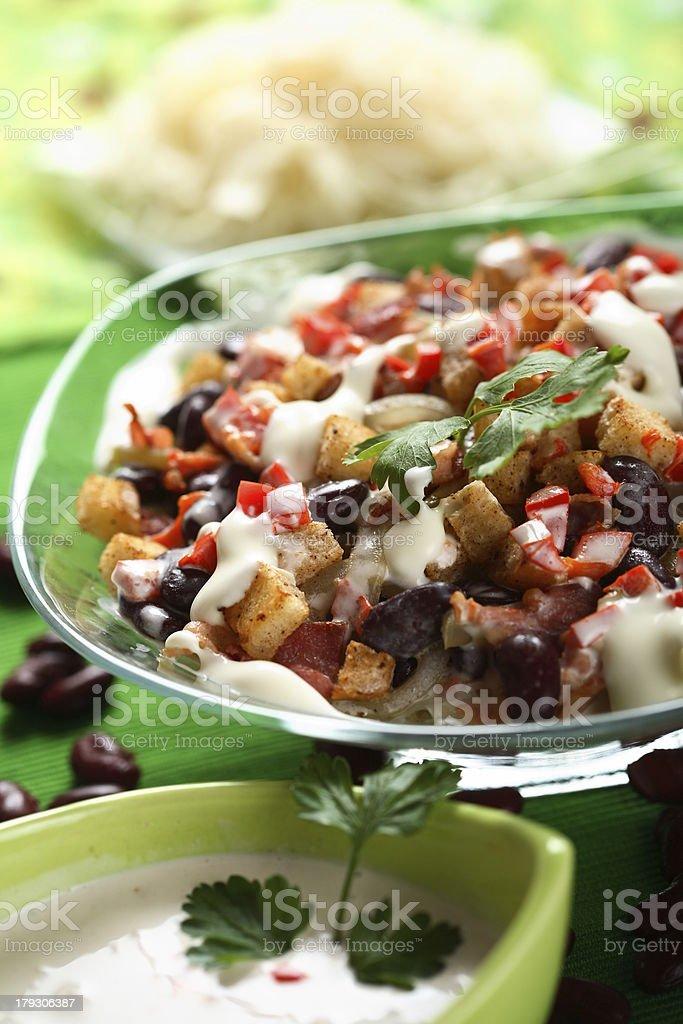 Salad with sauerkraut royalty-free stock photo