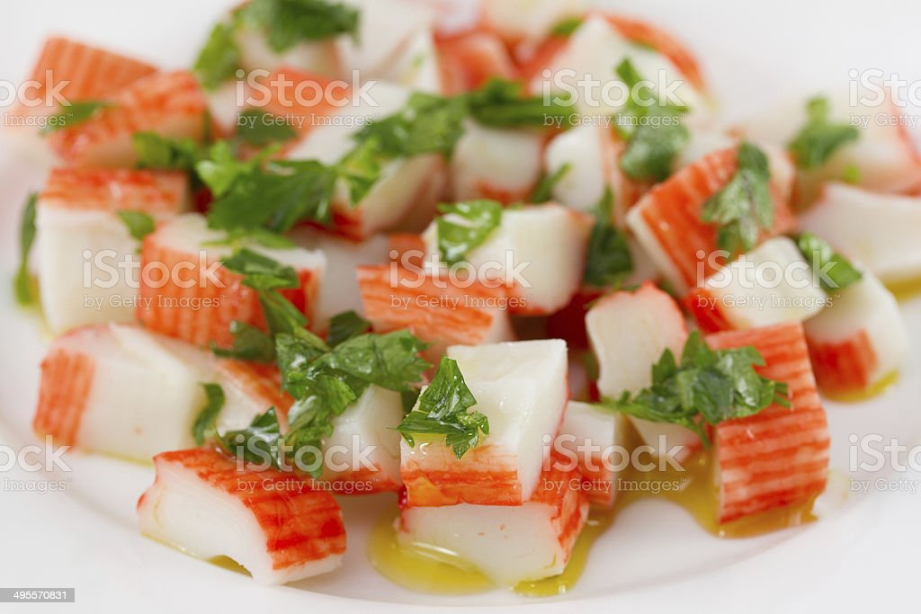 salad with seafood stock photo