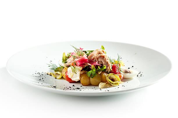 Salad with Seared Tuna stock photo