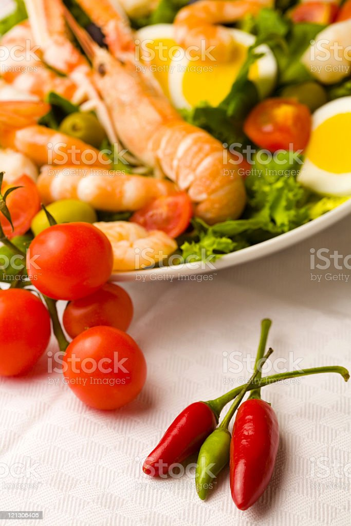 salad with shrimps royalty-free stock photo