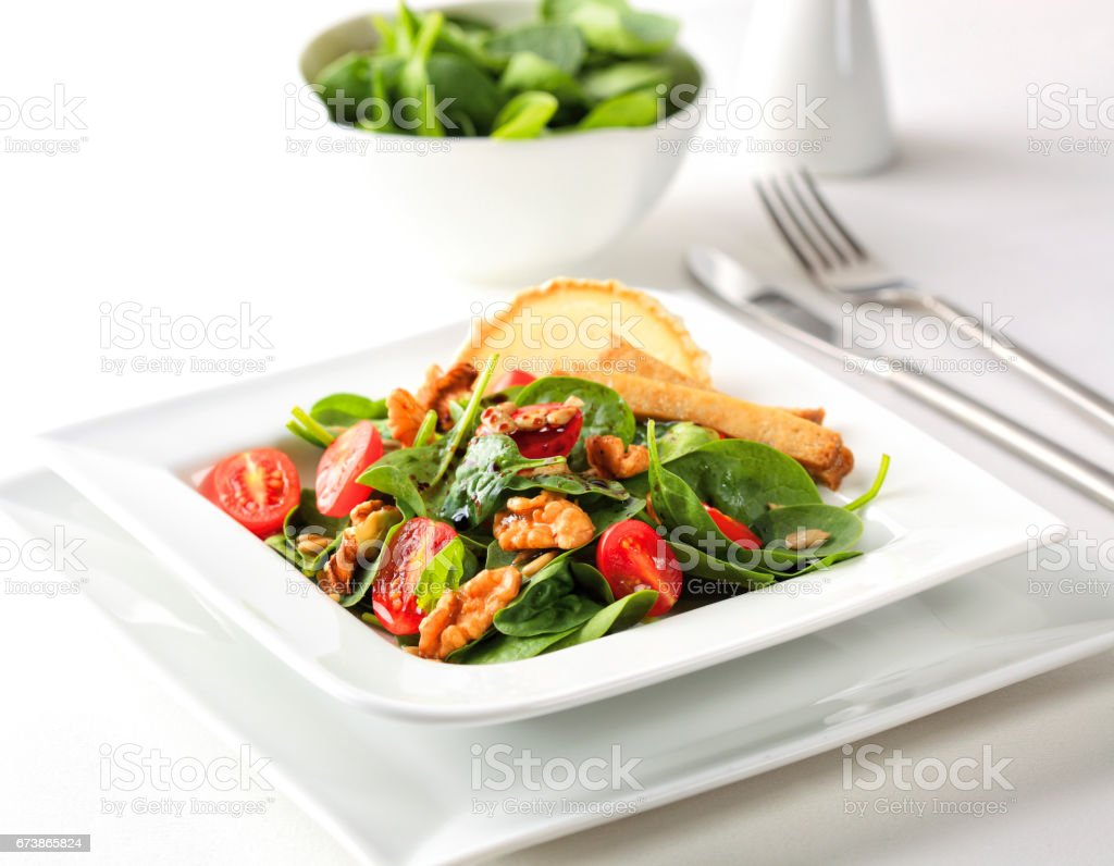 Ispanak salatası royalty-free stock photo