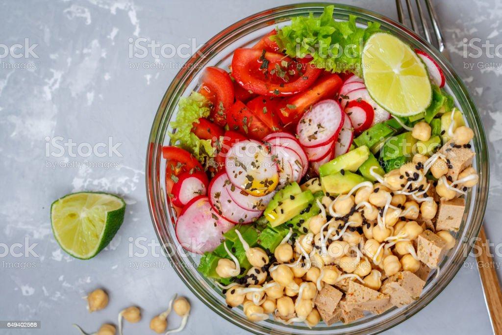 salade de tofu, pois chiches, avocat - Photo