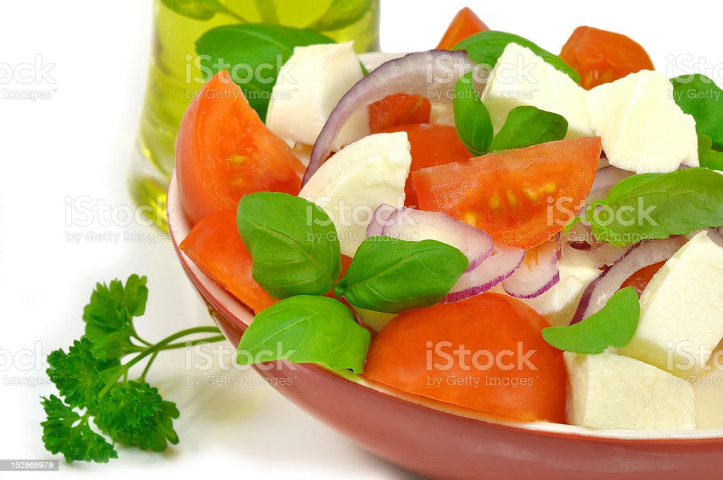 salad with tomatoes and mozzarella royalty-free stock photo