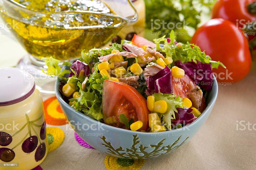 salad with tuna nad corn royalty-free stock photo