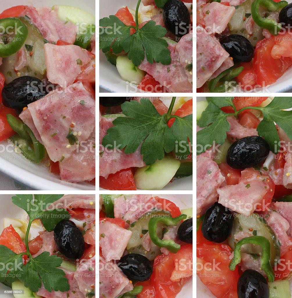 Salade de museau - Hors d'oeuvre stock photo