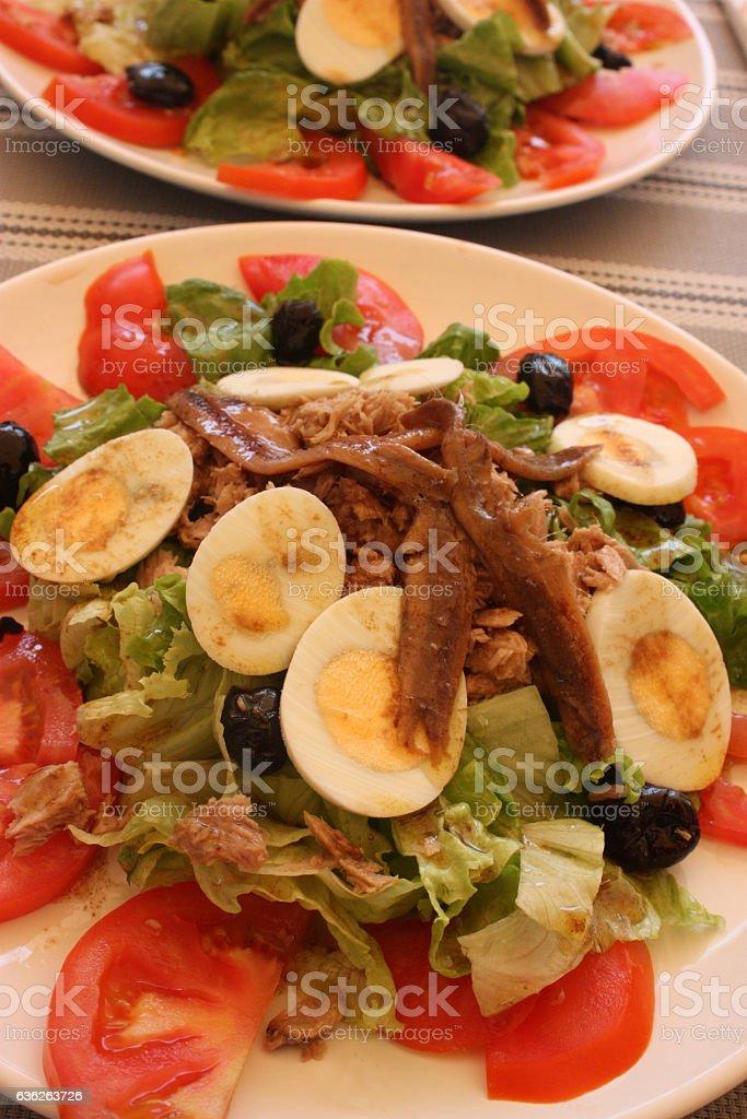 Salade Niçoise - Salade Provençale stock photo