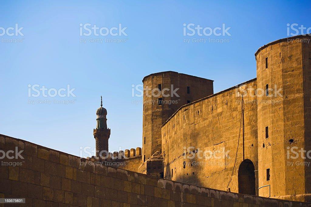 Saladin Citadel in Cairo stock photo