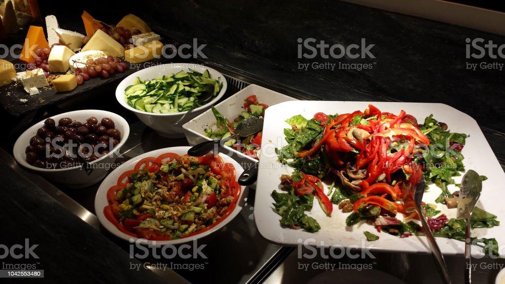Salads and other Greek delicacies. – zdjęcie