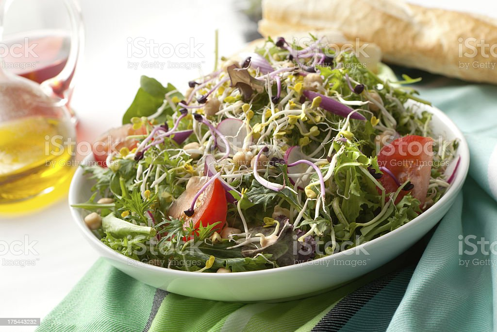 Salads: Bean Sprouts stock photo