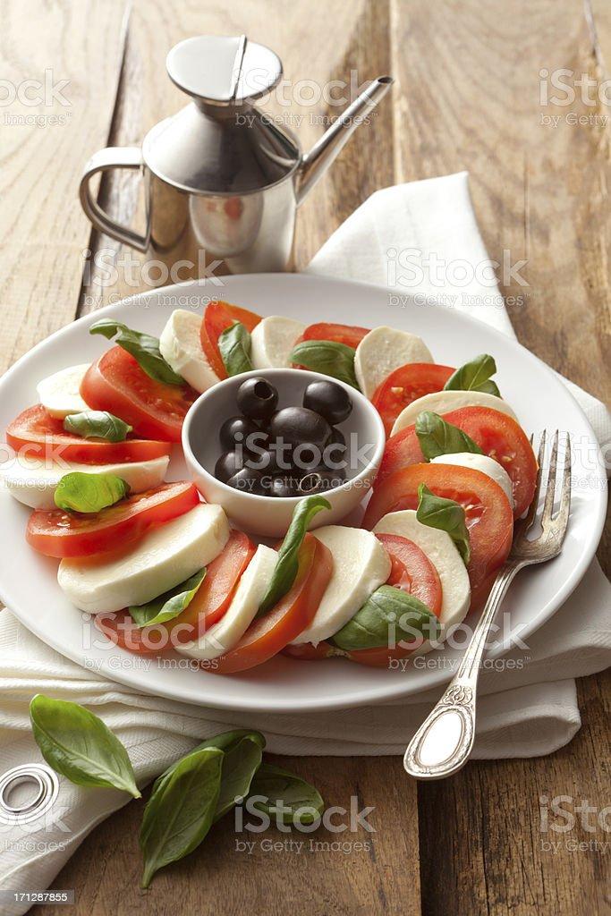 Salads: Caprese Salad Still Life royalty-free stock photo