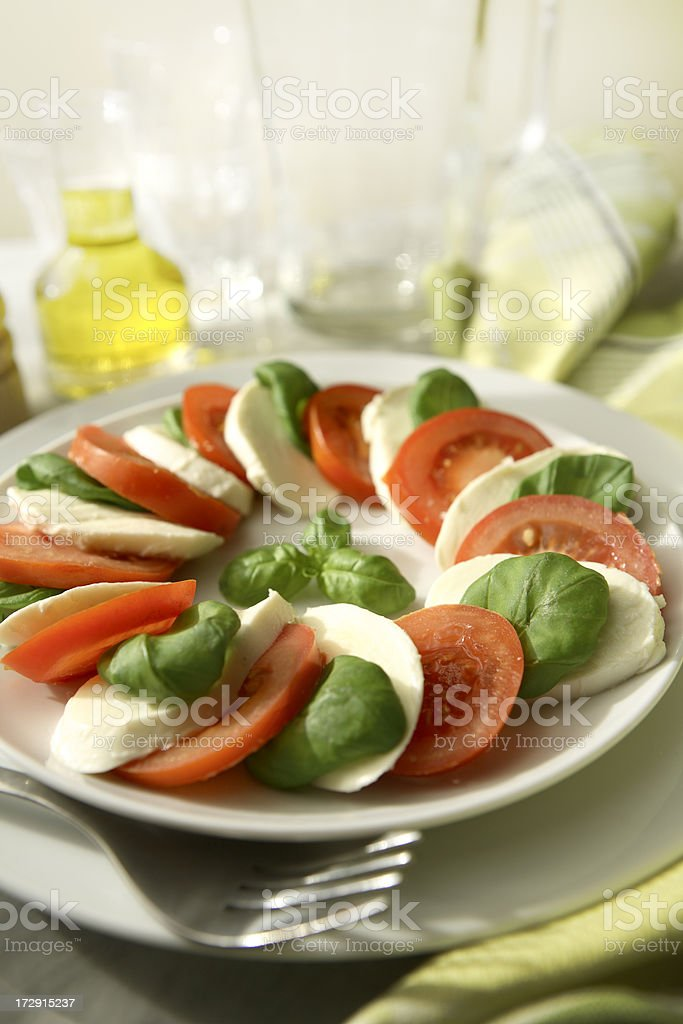 Salads: Caprese Salad Still Life royalty-free stock photo