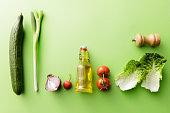 Salads: Salad Ingredients Still Life
