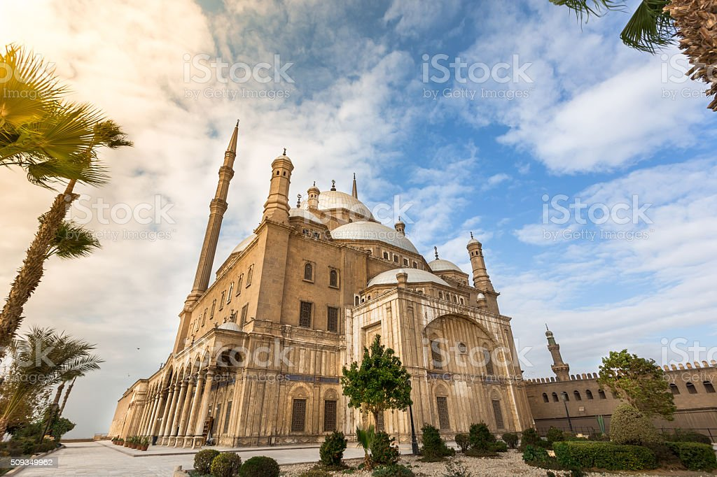Salah al-Din mosque in Cairo stock photo