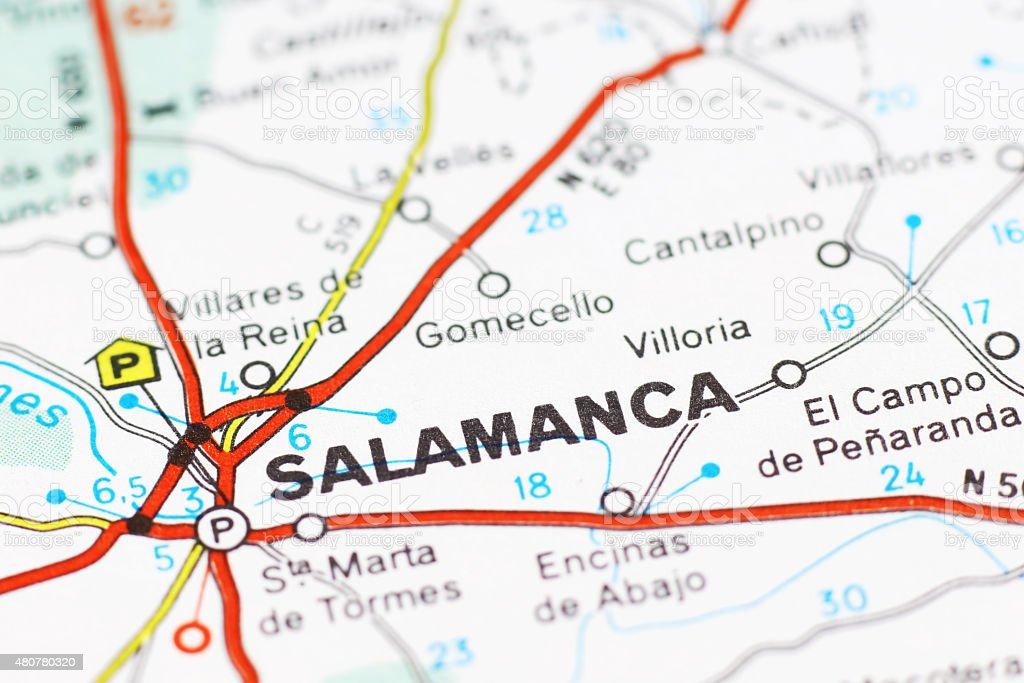 Salamanca Cartina.Salamanca Area On A Map Stock Photo Download Image Now Istock