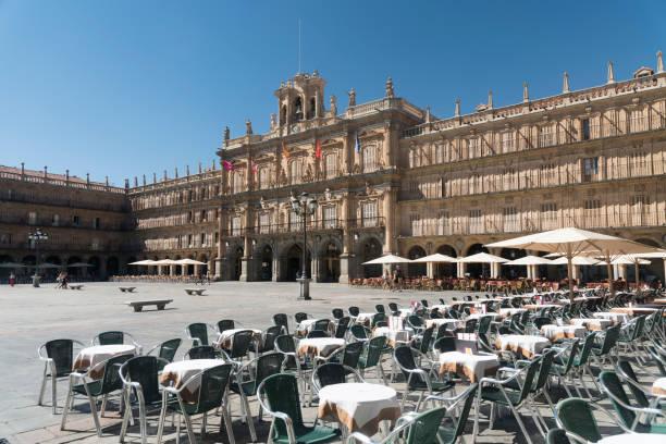 Salamanca (Espanha): histórica Plaza Mayor - foto de acervo