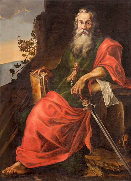 Salamanca - St. Paul painting in Convento de San Esteban stock photo