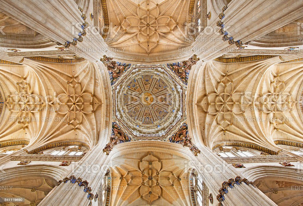 Salamanca - The cupola of naves of New Cathedral stock photo