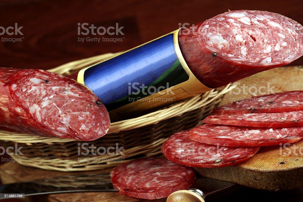 salame italiano stock photo