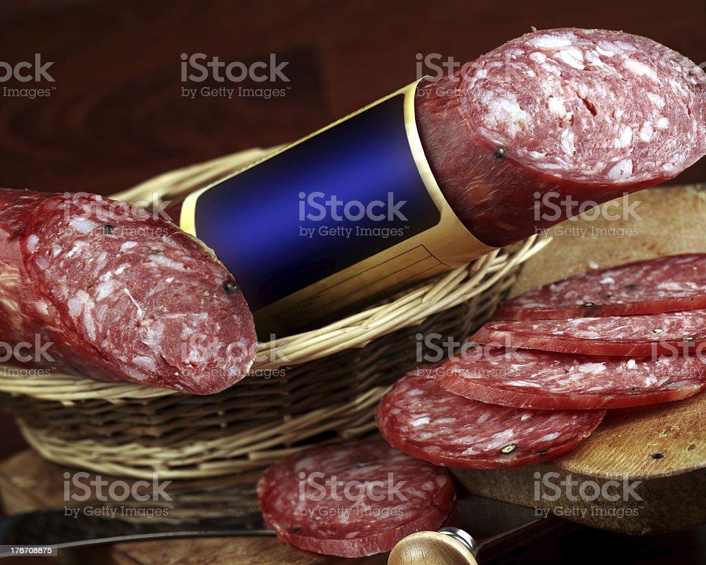 salame napoletano stock photo