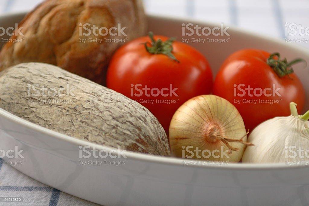 Salami Breakfast royalty-free stock photo