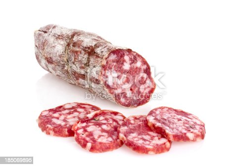 Salami slices. The file includes a clipping path.