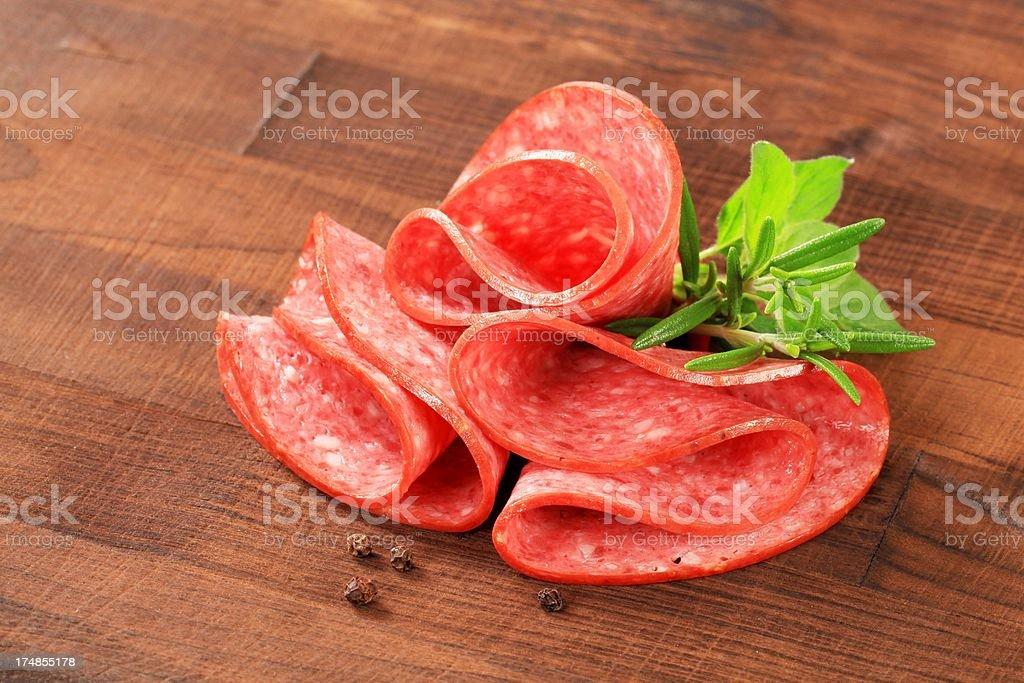 salami roses royalty-free stock photo