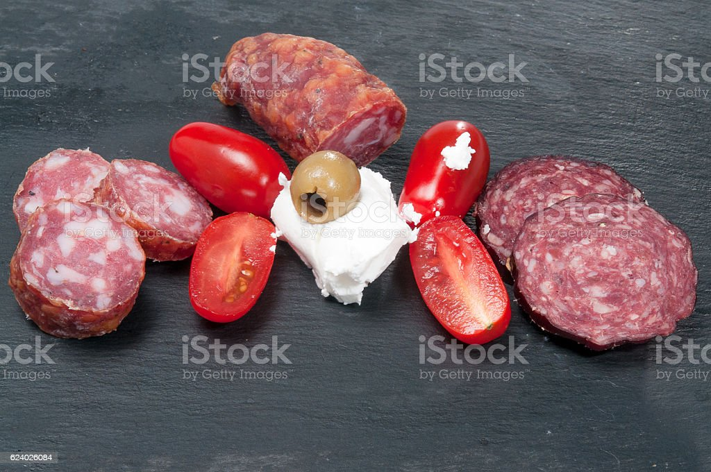 Salami russisch stock photo